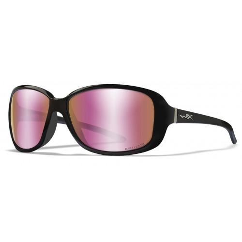 Очки AFFINITY Captivate Rose Gold Gloss Black Frame с черной глянцевой оправой и розовыми стеклами