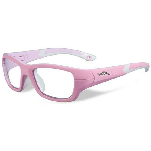 Очки FLASH (прозрачные и серые линзы, бело-розовая оправа)