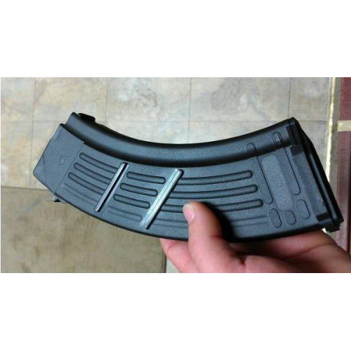 Полимерный магазин на 30 патронов калибром 7.62x39 для AK47 (Черный)