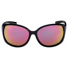 Очки MYSTIQUE Captivate Rose Gold Gloss Black Frame с черной глянцевой оправой и розовыми стеклами