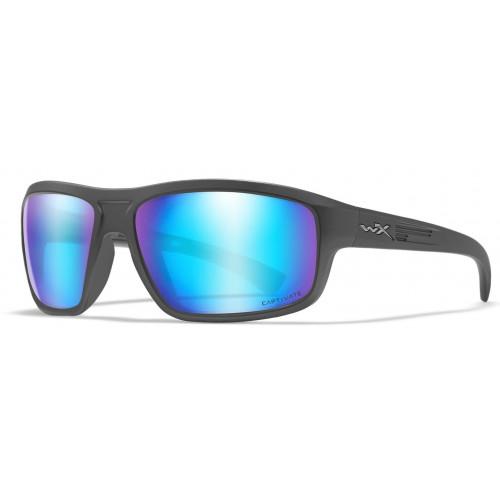 Очки CONTEND Captivate Blue Mirror Matte Graphite Frame с графитой оправой и голубыми поляризованными линзами Captivate