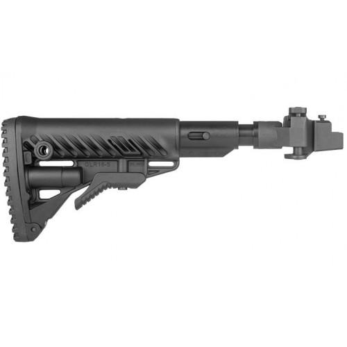 Складной телескопический приклад с амортизатором для АК 47/74/Сайга (металлическое соединение)