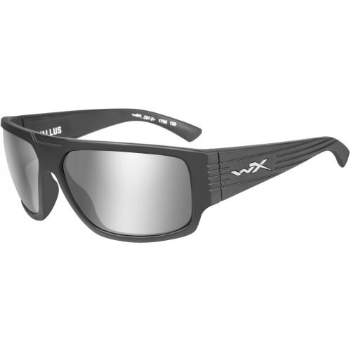 Очки VALLUS Grey Silver Flash Matte Graphite Frame с матовой графитовой оправой и линзами цвета Grey Silver Flash