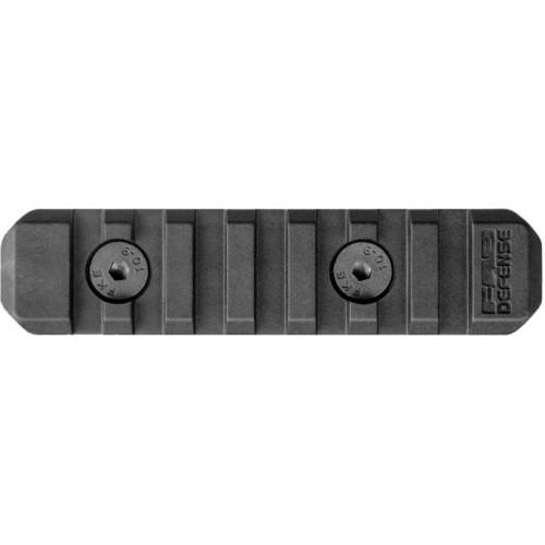 Полимерная планка Пикатинни на M-LOK цевья Vanguard, 7 слотов, чёрный