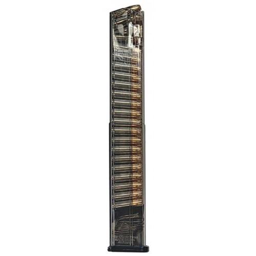 Магазин прозрачный ETS, 40 зарядный для пистолета Glock 17, 18, 19, 19x, 26, 34, 45