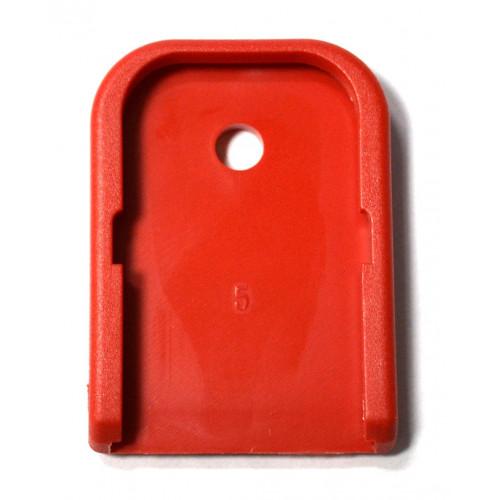 Пятка заглушка на магазин Glock (красный)