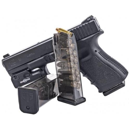 Магазин прозрачный ETS, 15 зарядный для пистолета Glock 19, 26