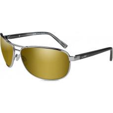 Очки KLEIN Pol Amber Gold Mirror Gunmetal с оправой цвета оружейного воронения с поляризованными янтарными линзами