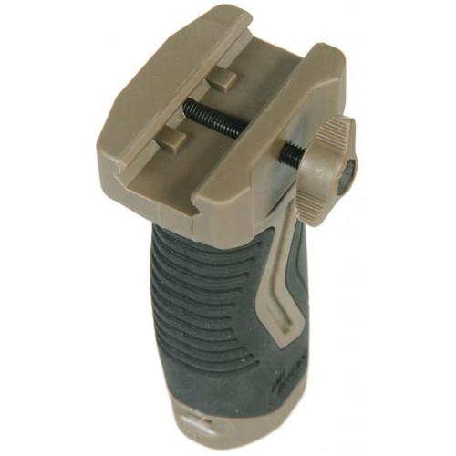 Прорезиненная тактическая вертикальная рукоятка с отсеком для батареи (Бежевый) OVG