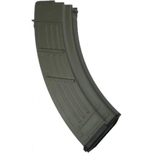 Полимерный магазин на 30 патронов калибром 7.62x39 для AK47 (Зеленый)