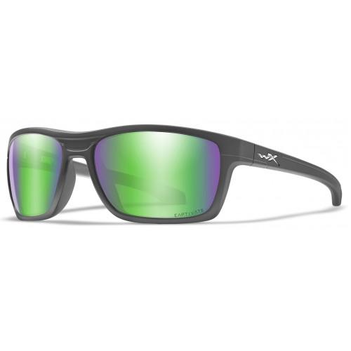 Очки KINGPIN Captivate Green Mirror Matte Graphite Frame с матовой графитовой оправой и зелеными поляризованными линзами Captivate