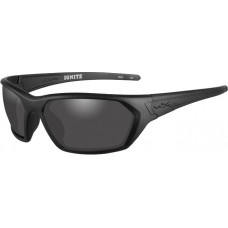 Очки IGNITE с матовой черной оправой и дымчато-серыми линзами.