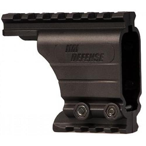 Рельсовая система для пистолета с возможностью установки фонаря/лазера/прицела (Черный) IMI-Mount