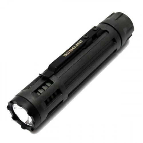 INF-6VX-B-W (Черный, Белый свет, Hi 200 Лм, Low 40 Лм, Стробоскоп 200 Лм)