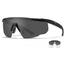 Очки SABER ADV Smoke/Clear Matte Black с матовой черной оправой и дымчато-серыми/прозрачными линзами