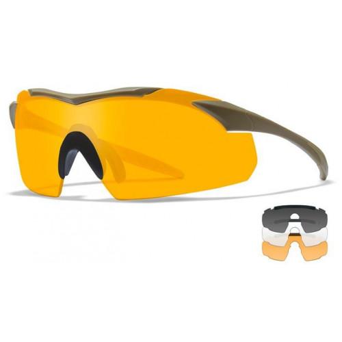 Очки VAPOR 2.2 Grey/Clear/Light Rust Tan Frame с песочной оправой и серыми/прозрачными/оранжевыми линзами