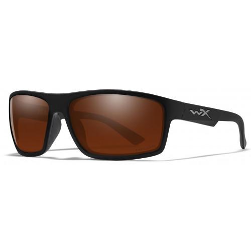 Очки PEAK Captivate Copper Matte Black Frame с матовой черной оправой и медными линазми Captivate