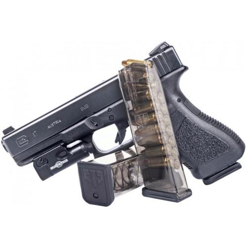 Магазин прозрачный ETS для пистолета Glock 17 - 9мм, 17 зарядный
