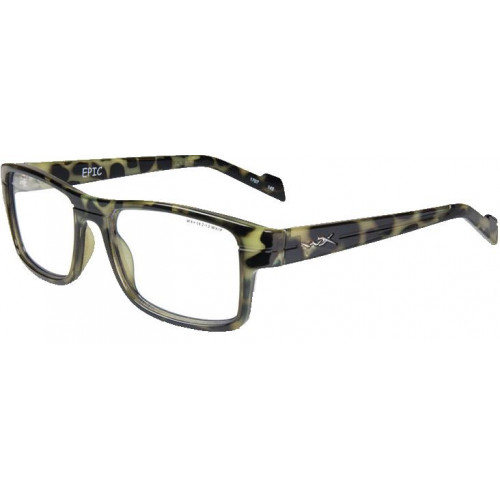 Очки EPIC  (прозрачные линзы, глянцевая Demi черная оправа)
