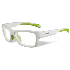 Очки CRUSH (прозрачные и серые линзы, бело-зеленая оправа)