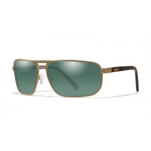 Очки WILEY X HAYDEN SATIN GOLD с серо-зелеными линзами