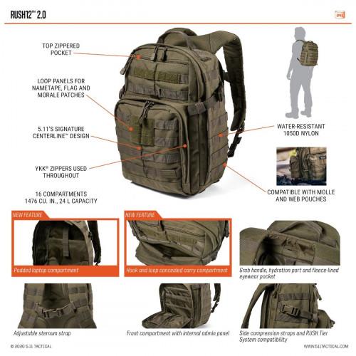 Рюкзак RUSH 12 2.0 MULTICAM®